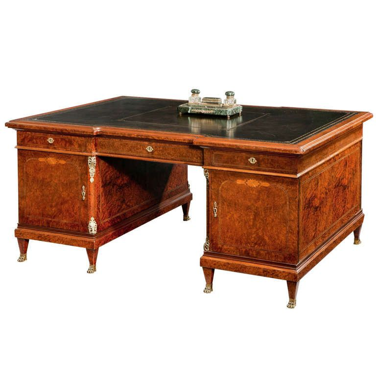 19th Century French Partners Desk