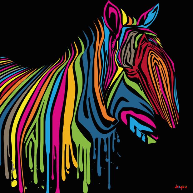 Pop Art Zebra by Dede Yasjkur