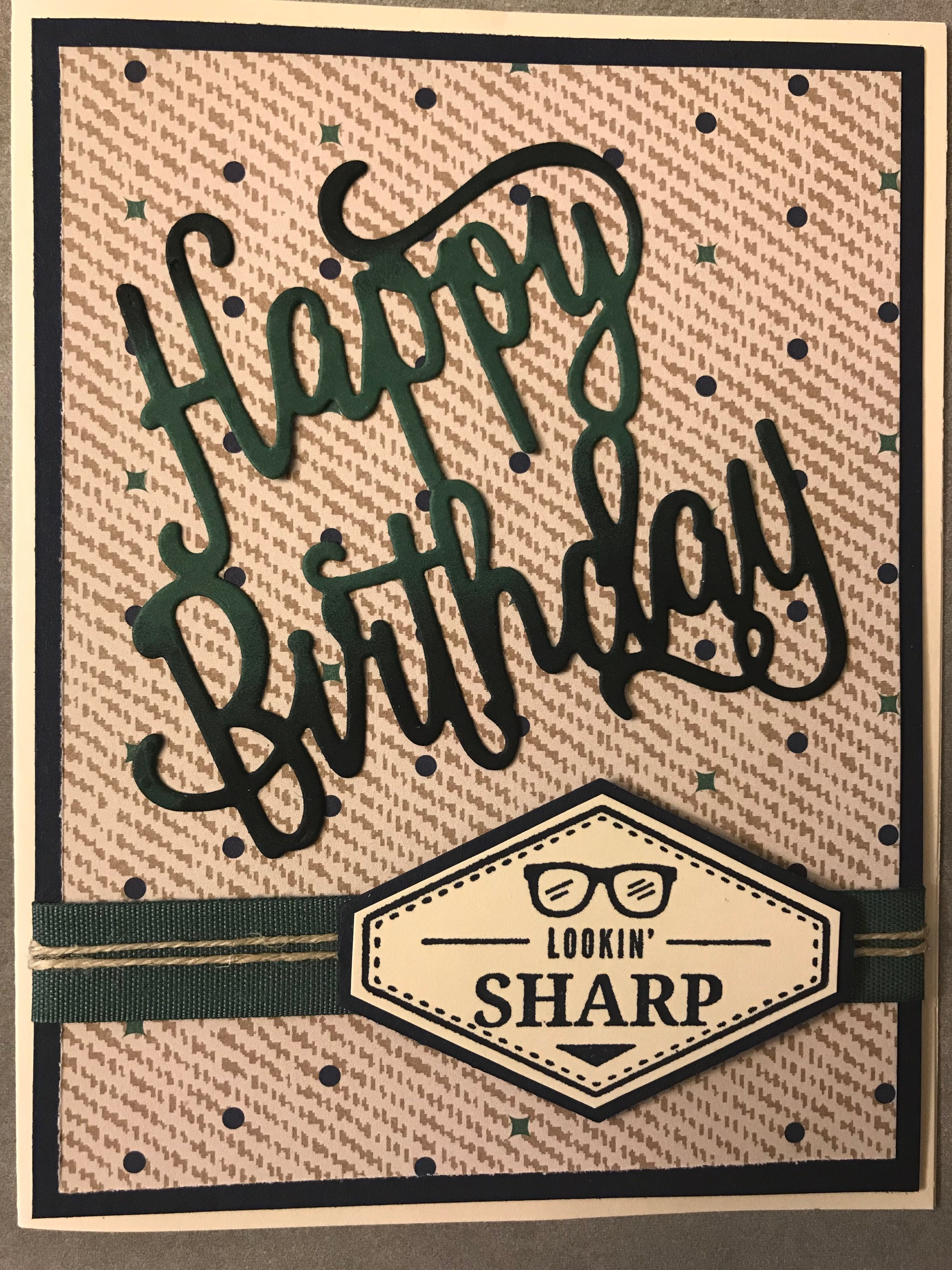 Truly Tailored StampinUp Masculine Birthday Cards For Men