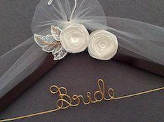 Pretty bride metal and wood hanger