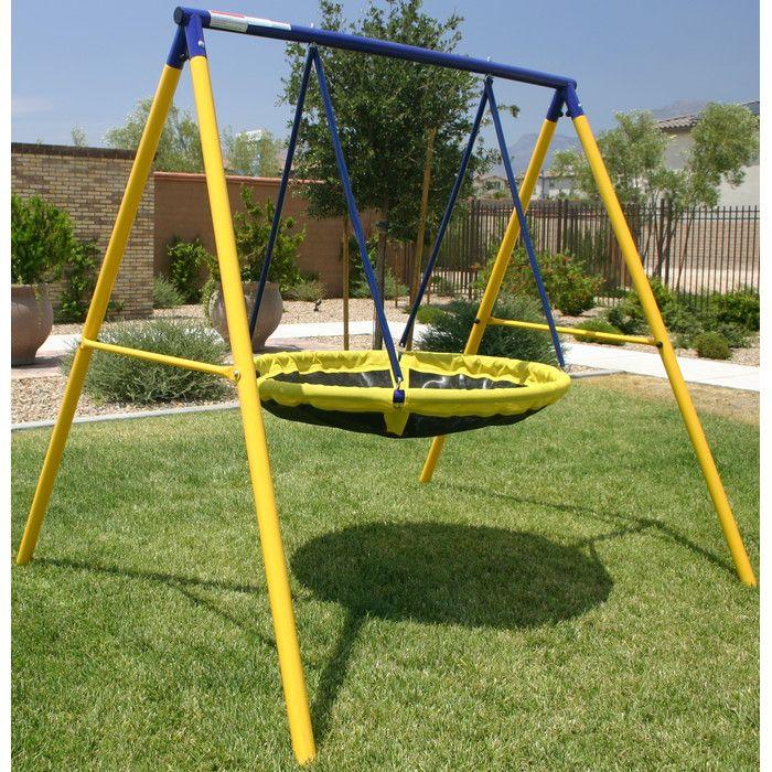 swing sets for kids outdoor children backyard toddlers yard fun metal round home - Metal Swing Frame