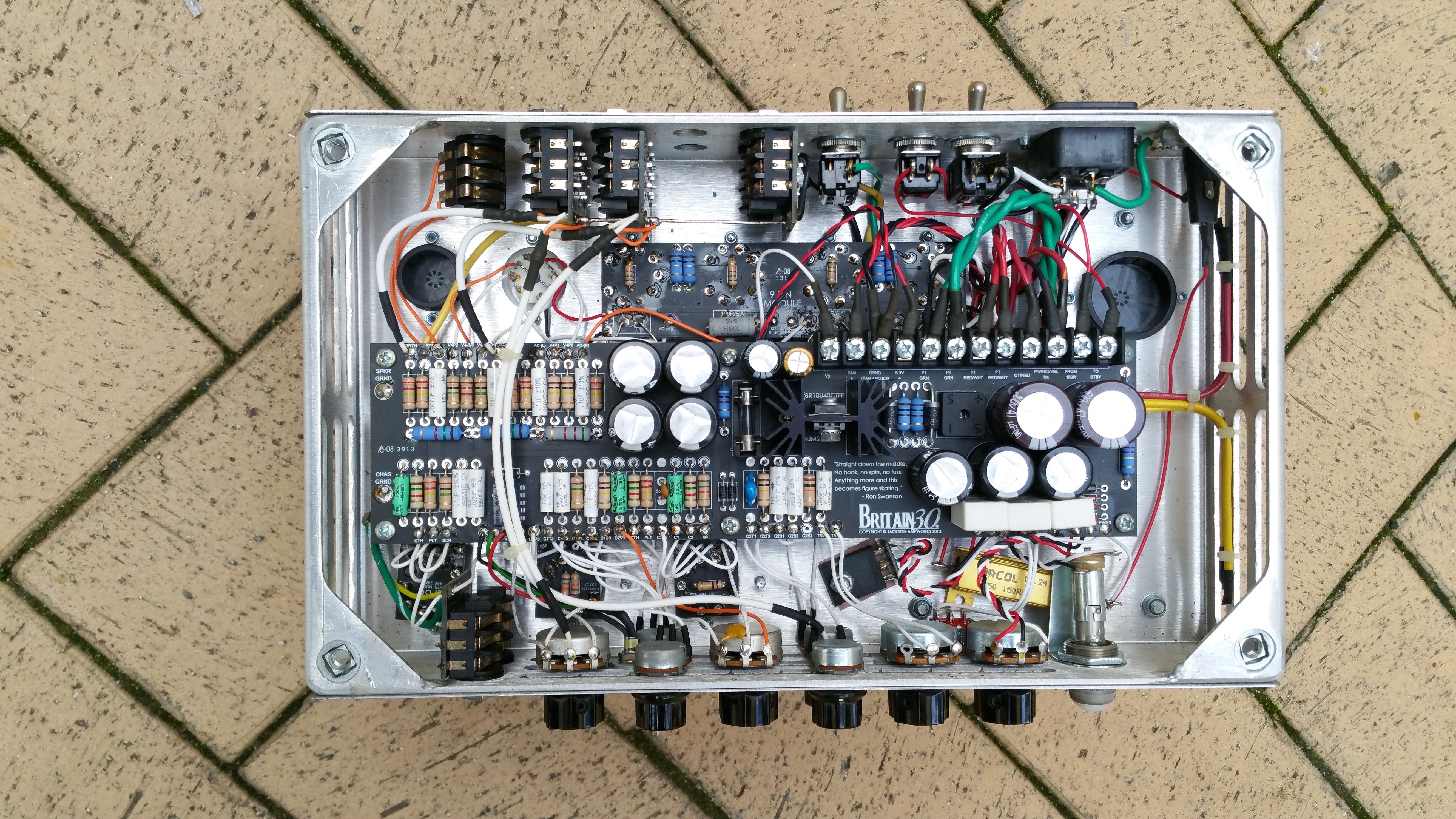 View Of A Jackson Ampworks Britain 30 With Power Scaling Topology Vox Ac30 Wiring