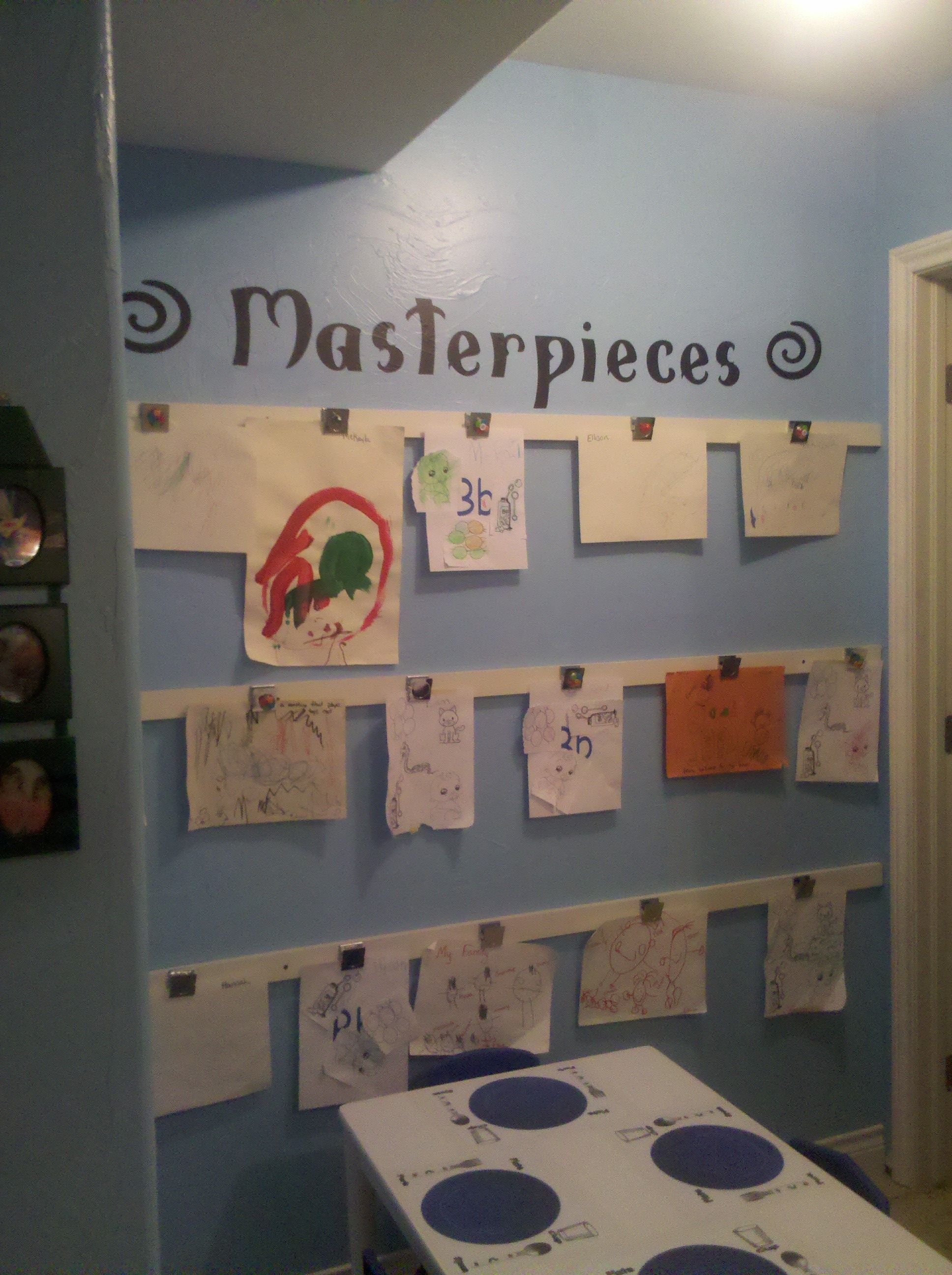 Added Pre-school Childcare Art Area.love . Teaching Little