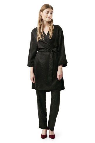 80a4f5aa McCarthy Silk Kimono Dress, Black Kimono Kjole, Swag, Efterår Vinter, Kjole