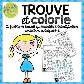 Trouve et colorie - les lettres de l\'alphabet (FRENCH Alphabet Find ...