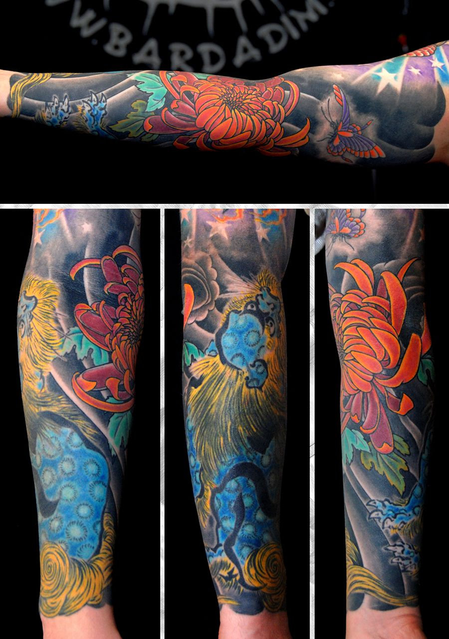 Japanese Koi Sleeve By George Bardadim Bardadim Tattoo Nyc Tattoos For Women Tattoo Artists Japanese Sleeve Tattoos