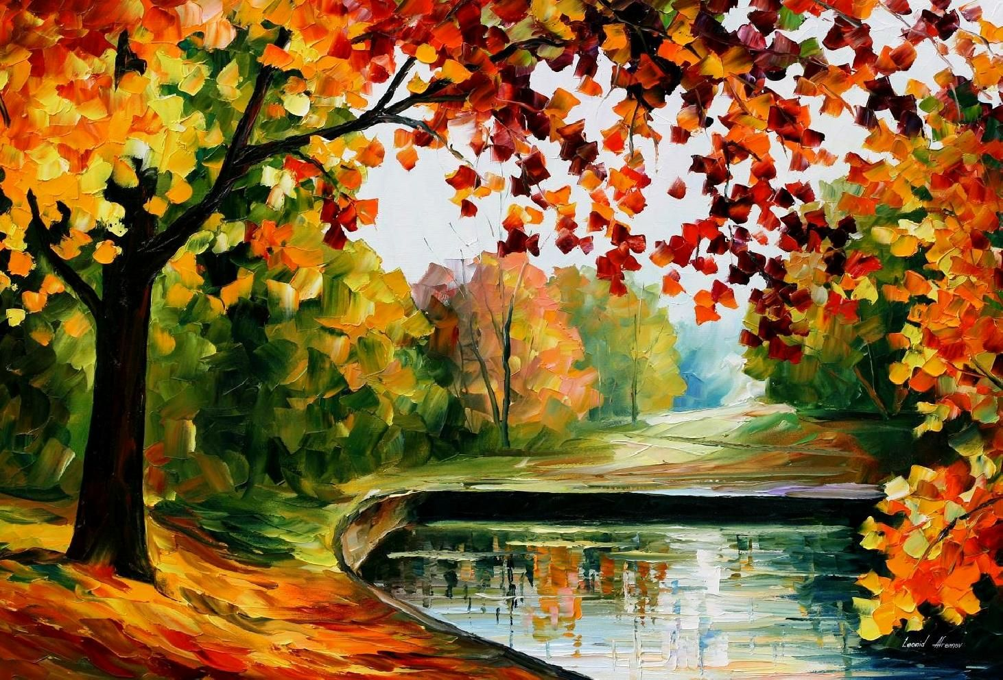 Leonid Afremov Oil On Canvas Palette Knife Buy Original Paintings Art Famous Artist Biography Off Landscape Wall Art Modern Oil Painting Canvas Painting