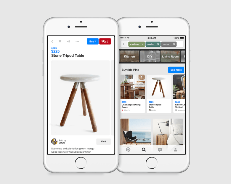 Pinterest rolls out buyable pins on iPhone and iPad in the