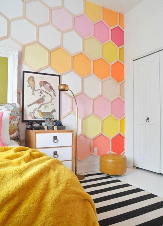 Super Idee | Wohnen | Pinterest | Wandmuster, Sechseck und Akzentwand
