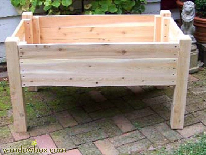 how to build a raised garden bed with legs. Raised Garden Beds - Cedar Flower \u0026 Potting Tables . How To Build A Bed With Legs