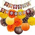 Thanksgiving Decorations KitHappy Banner With Tissue Flowers Pom Poms Paper For  Thanksgiving Decorations KitHappy Banner With Tissue Flowers Pom Poms Paper For
