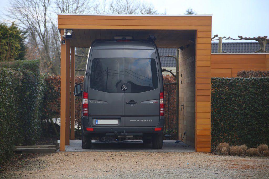 Alleenstaande Carport Voor Bestelwagen Caravan Mobilhome Carport Independant Pour Camionette Caravane Camping Car Carport Platte Dak Dak