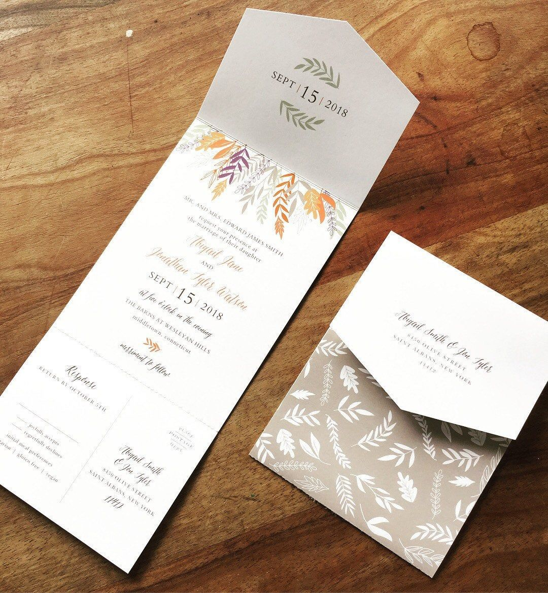 All in one wedding invitation. Seal and send. image 3  Wedding