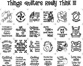 Things Quilters Really Think Humorous Fabric Panel