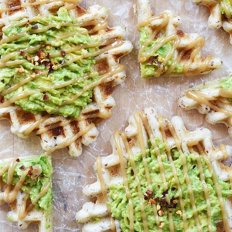 Today calls for Maple-Tahini Avocado Waffles for brunch!! So many of my favorite ingredients are in one place in this meal. The recipe is linked in my bio!