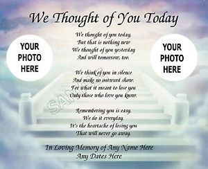 In Memory of You Poem | WE-THOUGHT-OF-YOU-TODAY-PRAYER-PHOTO-PERSONALIZED-ART-POEM-MEMORY-GIFT