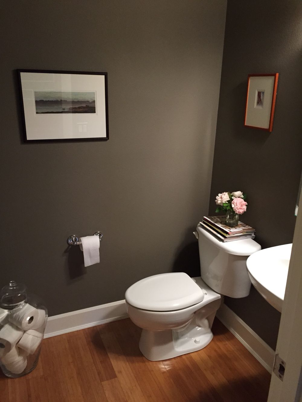 Best Our Bathroom Benjamin Moore Chelsea Gray Easy Home 400 x 300