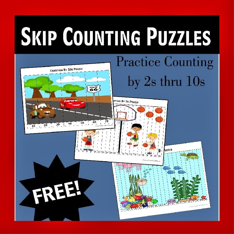 FREE Kindergarten Worksheets | Counting puzzles, Skip counting and ...