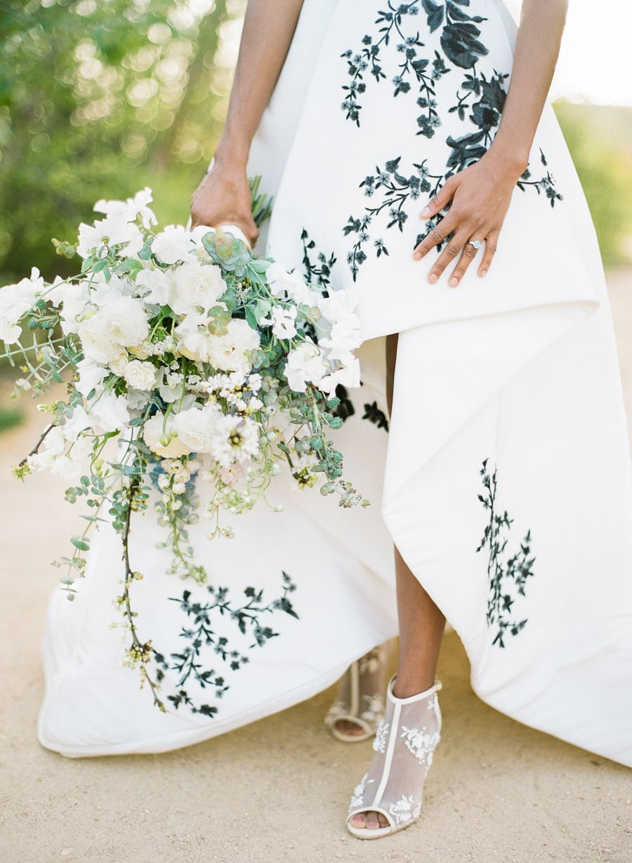 The cherry blossom printed wedding dress you have to see spring