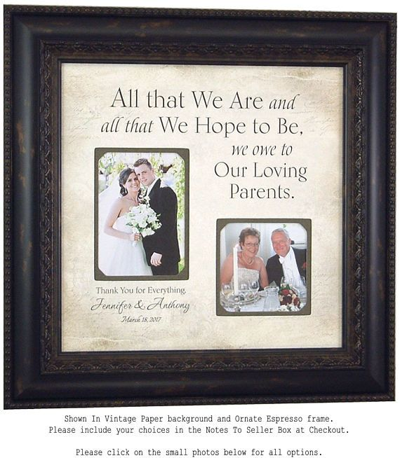 Personalized Wedding Gift for Parents Mother Father Gift from ...
