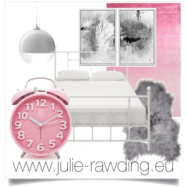 pink bedroom by julie-rawding on Polyvore featuring interior, interiors, interior design, home, home decor, interior decorating, Dorel, Designers Guild, bedroom and Pink