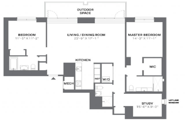 3 Bedroom Apartments Manhattan Impressive On Bedroom Within 2 Apartment In Manhattan Rentals With 4 Jpg 640 Grundriss Wohnung Wohnungsgrundrisse Schlafzimmer