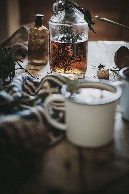 hot buttered fig + rosemary bourbon cider