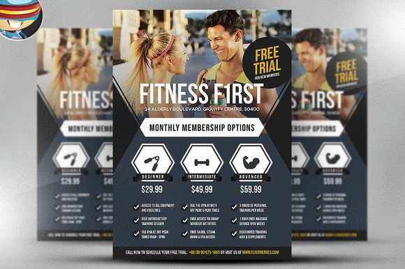 Fitness First Flyer Template Creativework247 Flyer Templates