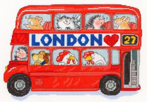 Bothy threads london calling cross stitch kit red telephone box