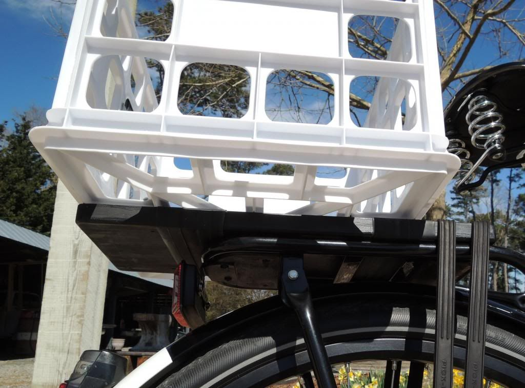 Put a milk crate on my rear rack and..... - Page 2 - Bike Forums