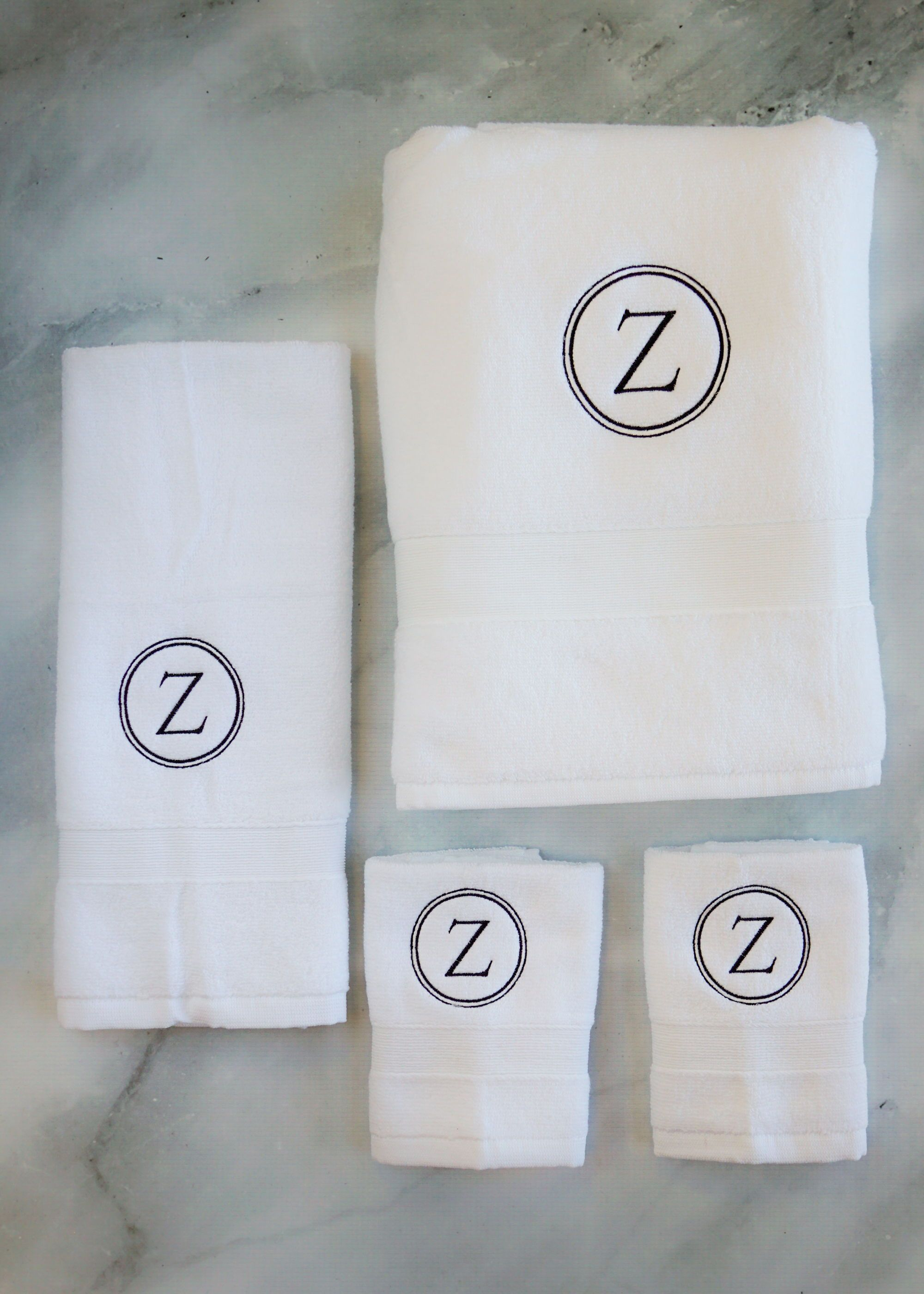 Monogrammed Towels Monogram Bath And Hand Towel Set Personalized