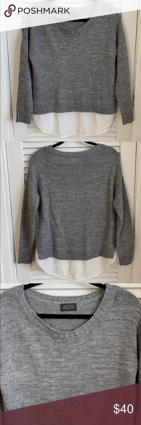 """f2c6eeebdde05 Nordstrom ASTR Sweater ASTR Sweater in size S. Great condition. Approximate  measurements Armpit to armpit 22"""" Length 29"""" 70% acrylic 30% wool Astr  Sweaters"""