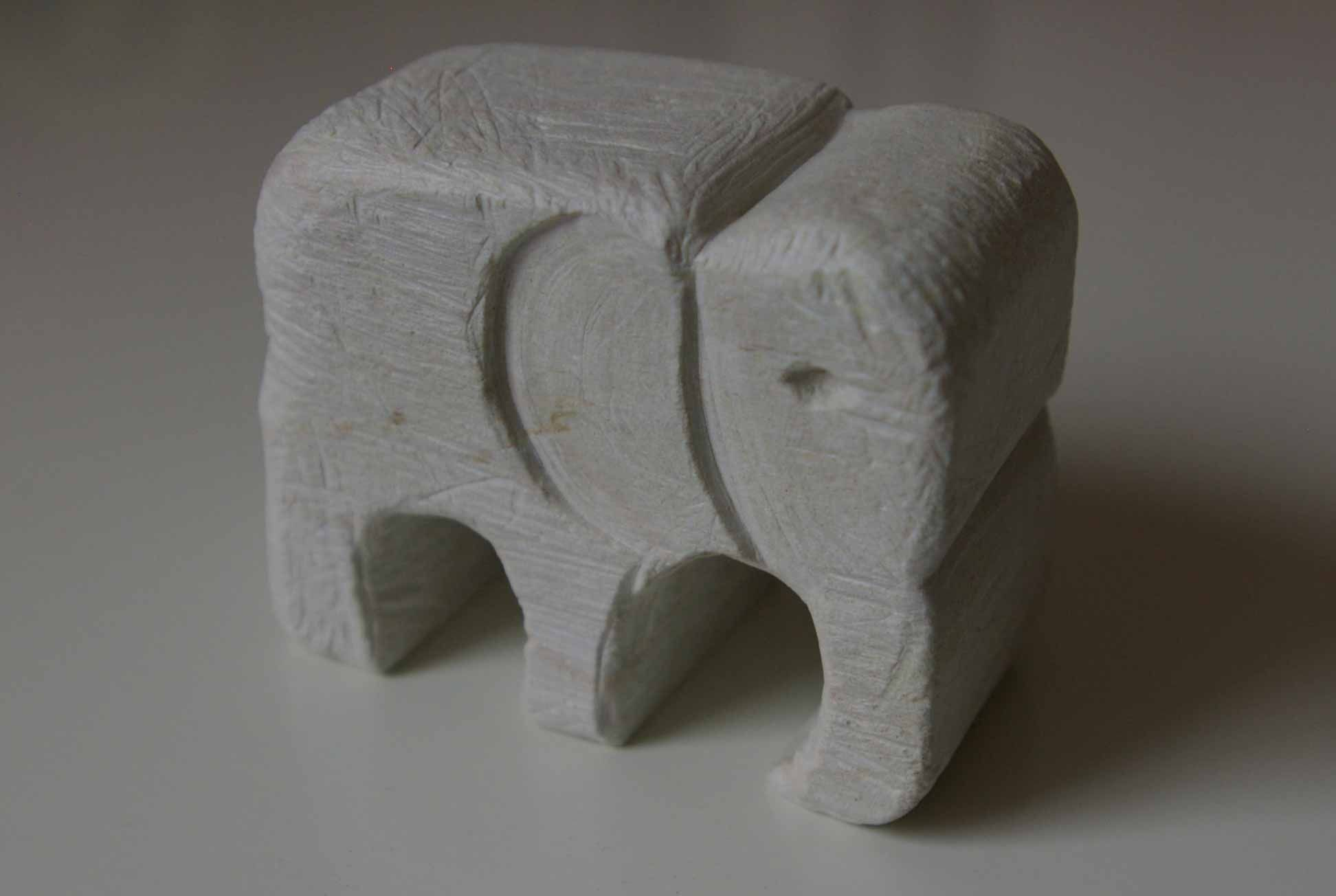 Soap stone elephant hand carved by me carving