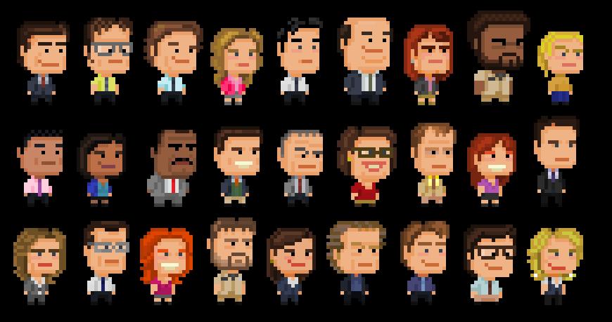 The Office Pixel Art