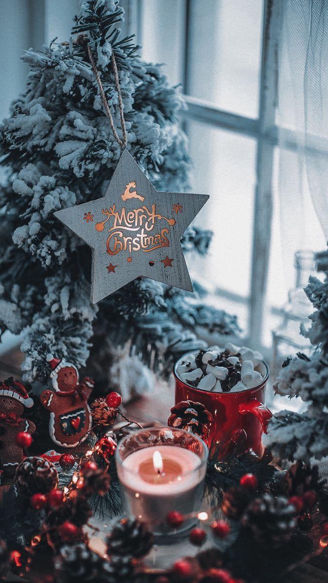 Photo of Christmas wallpaper 🎄🕯️