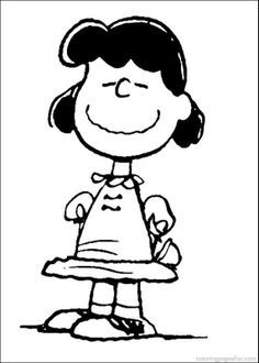 Charlie Brown Coloring Book Page Snoopy Lucy Van Pelt Coloring Pages