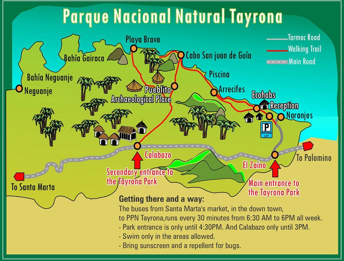 tayrona park map Google Search Nature Travel Pinterest Park