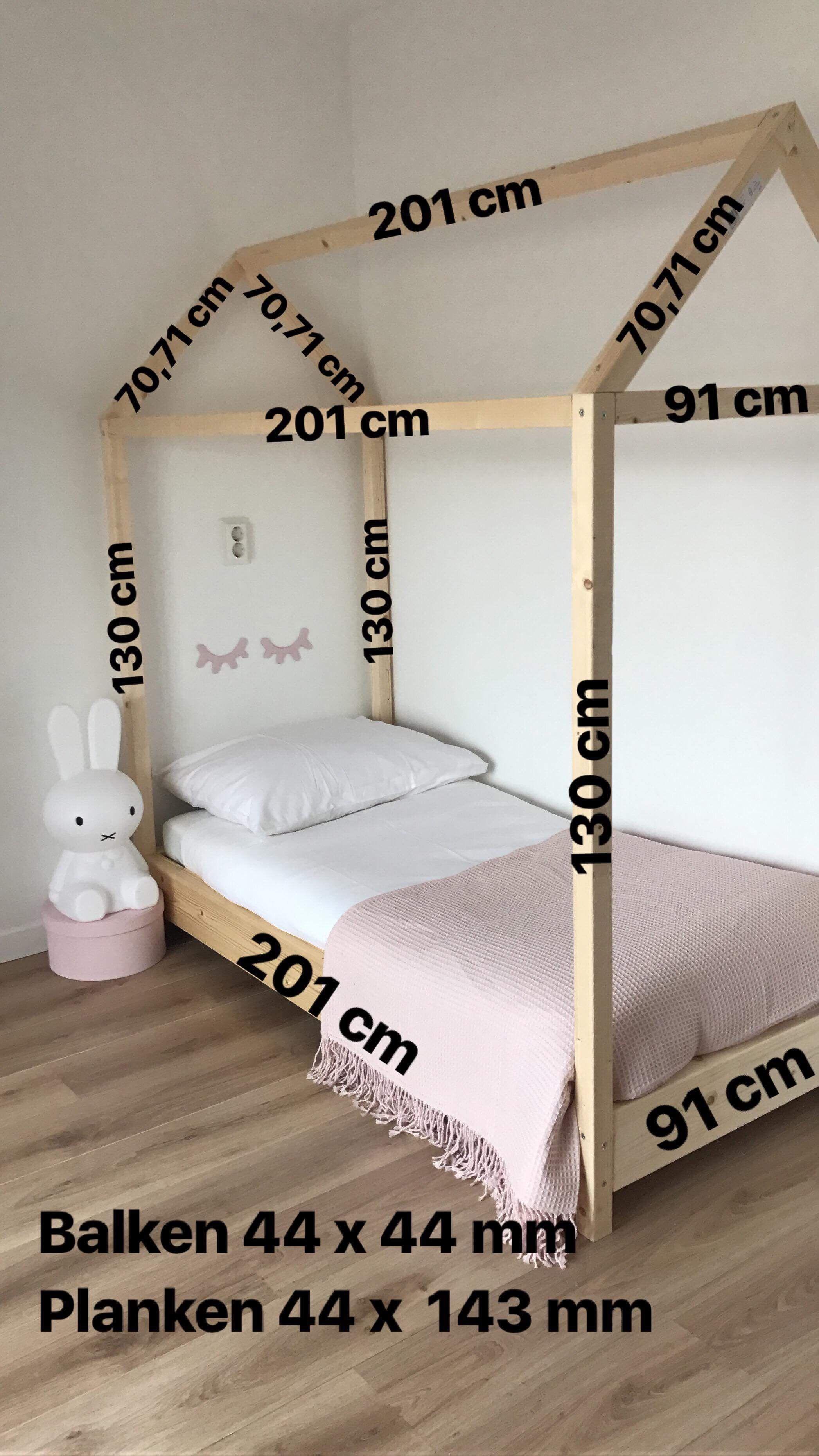 Fabricar una cama casita medidas for the home em 2019 - Medidas camas infantiles ...
