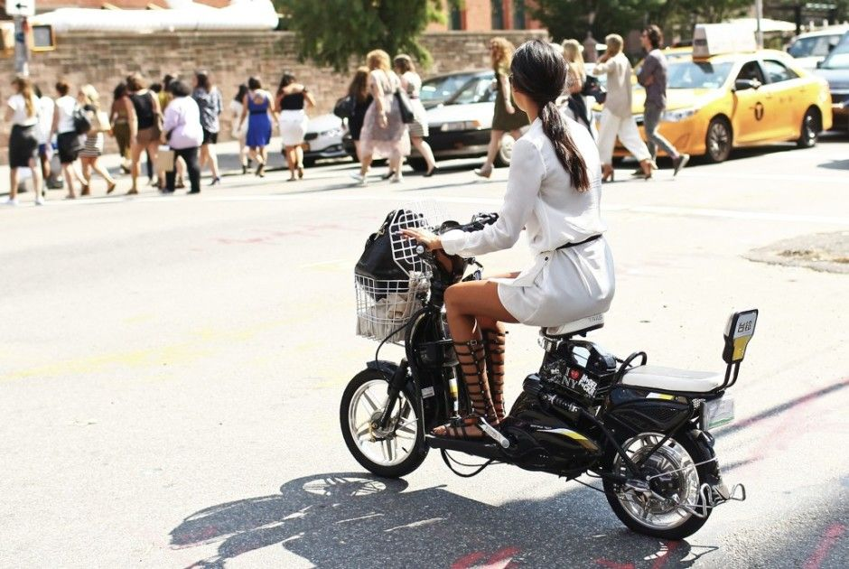 Comfort and ease was the name of the street-style game at the start of NYFW. Photo by Mr. StreetPeeper
