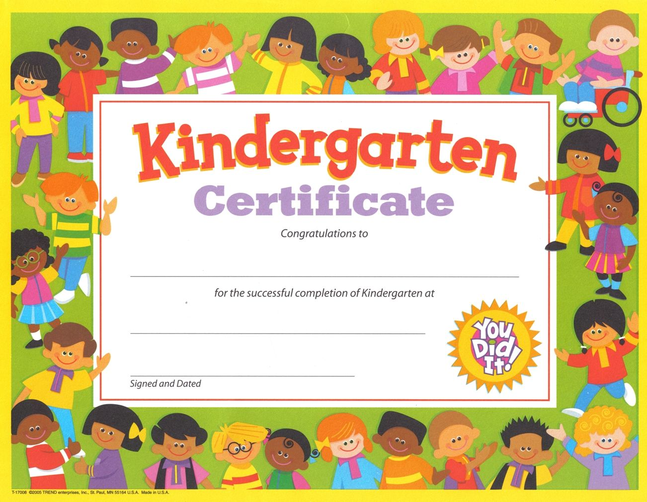 printable kindergarten certificates of achievement