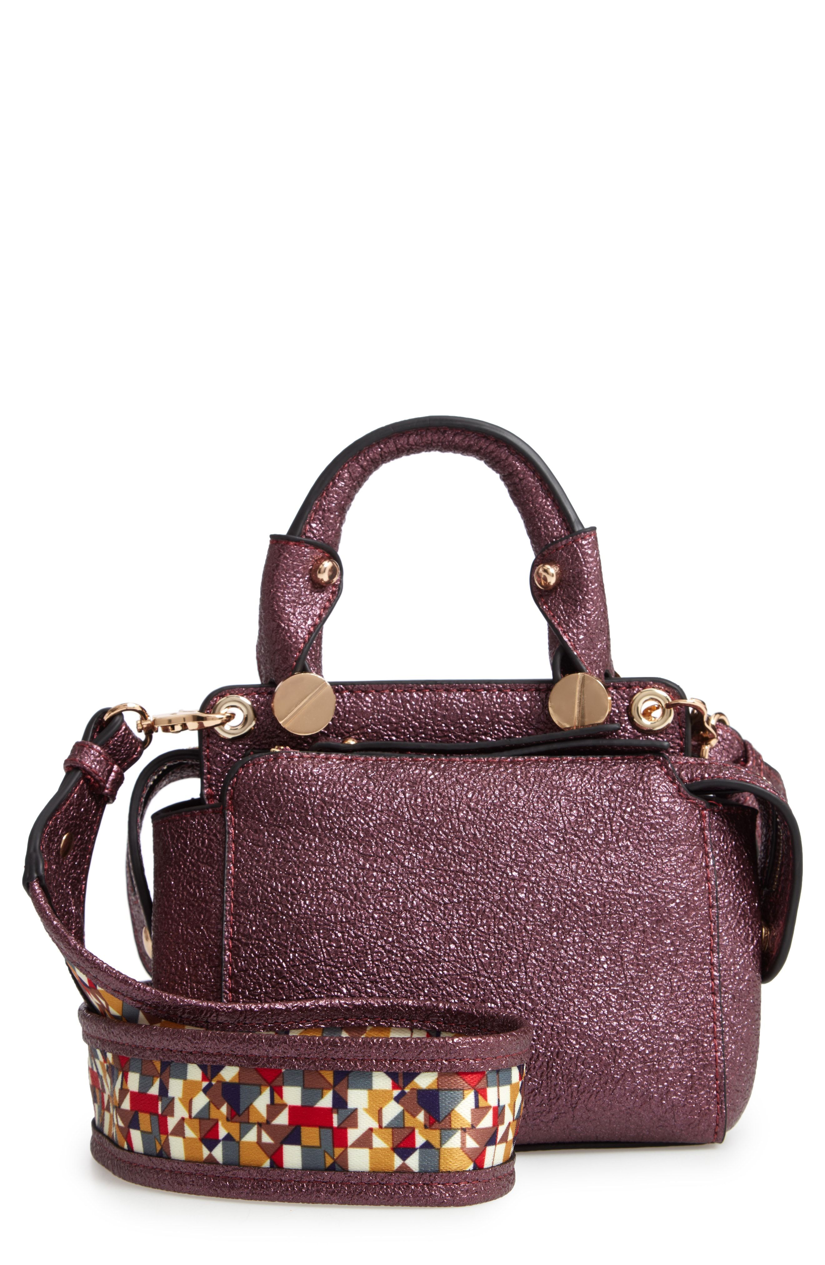 b4c1d33fc940 Sondra Roberts Metallic Faux Leather Mini Satchel available at  Nordstrom