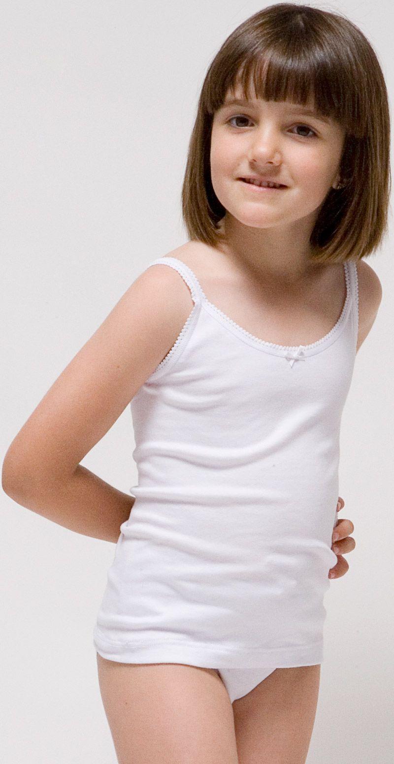 557fe4e63 Camiseta tirante fino para niña Algodón-elastano. Rapife 100% hecho en  España.