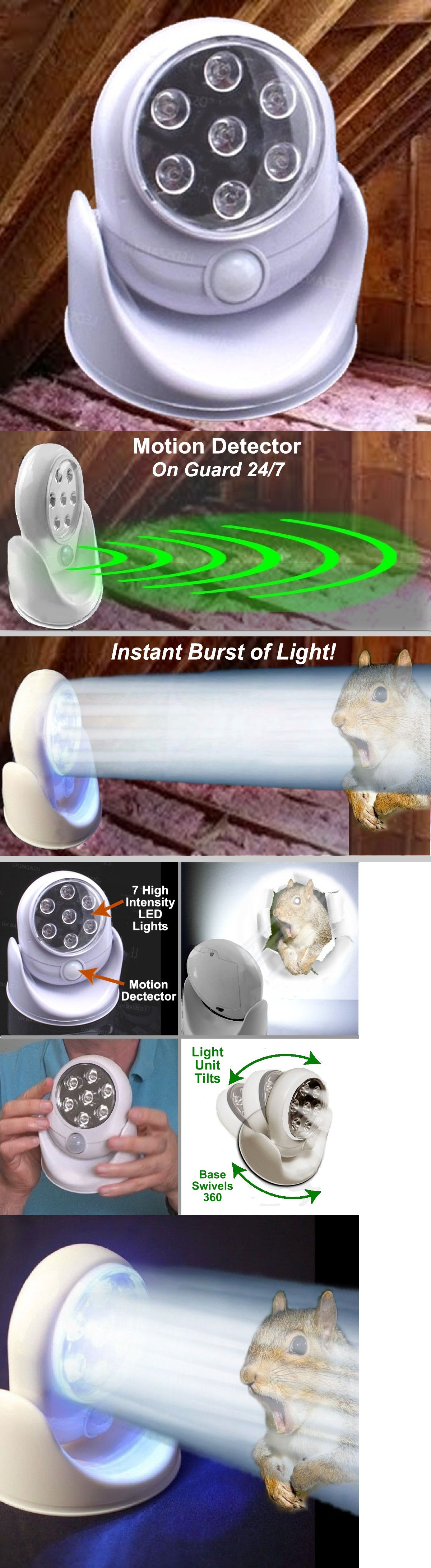 Details About Attic Squirrel Repellent The Fright Light Motion Sensor 7 Bright Led Lights Bright Led Lights