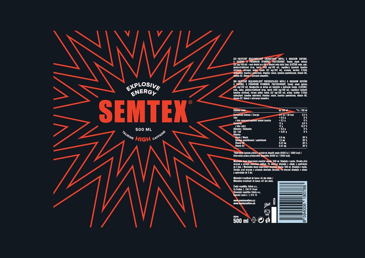 Semtex Energy Drink On Behance In 2020 Energy Drinks Energy Drink Can