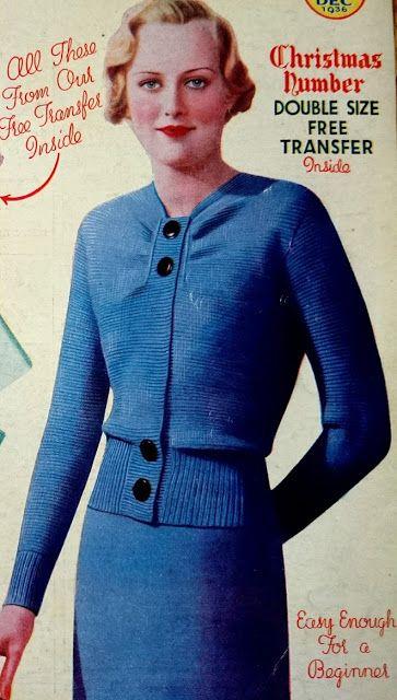 The Vintage Pattern Files Free 1930s Knitting Pattern Womens
