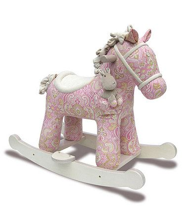 Another great find on #zulily! Pixie & Fluff Rocking Horse & Plush Toy #zulilyfinds