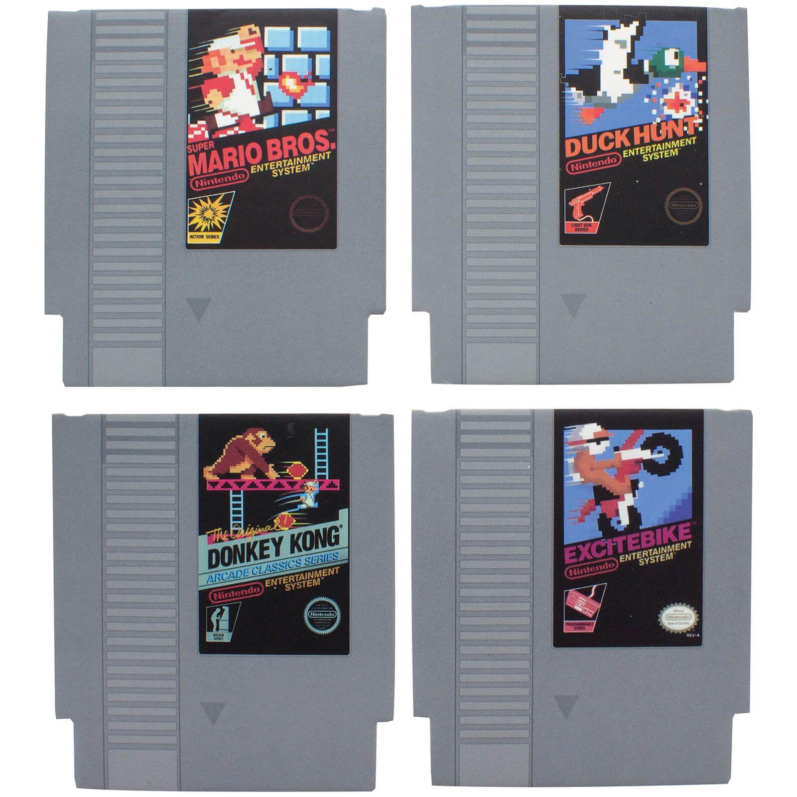 Nintendo Nes Cartridge Coasters In 2020 Nes Cartridge Nintendo Nes Classic Nes Games