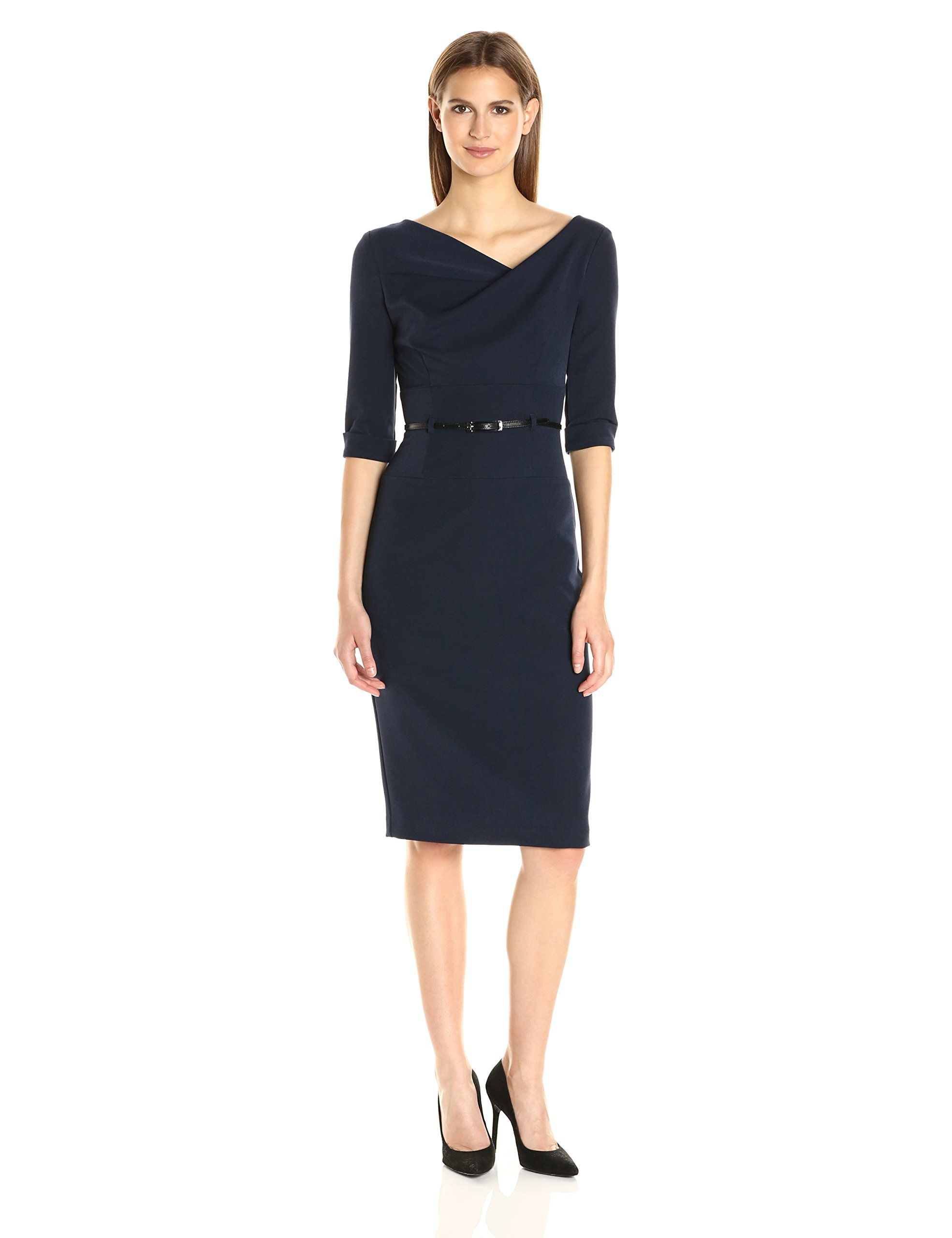 a3056954793 Black Halo Womens 3 4 Sleeve Jackie O Dress Eclipse 14    Check out the  image by visiting the link. (This is an affiliate link)