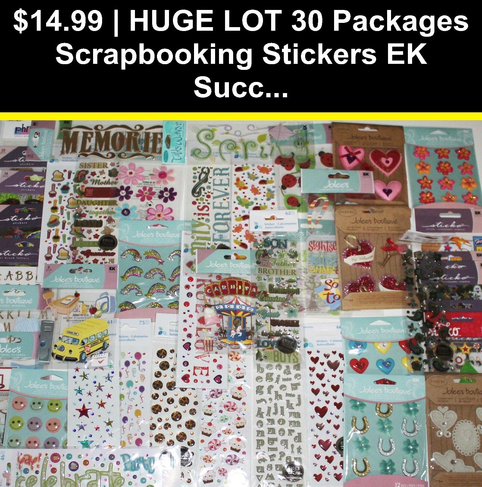 Jolees lot of 30 scrapbooking stickers NO DUPLICATES