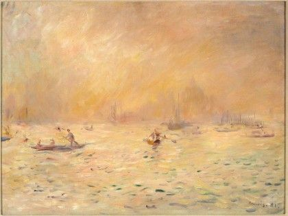 """Venice, Fog""  --  1881  --  Pierre-Auguste Renoir  --  French  --  Oil on canvas  --  Kreeger Museum"